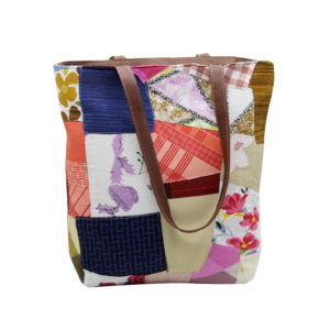 Indha Craft Multicolour Cotton Patchwork Stylish Hand Bag for Girls/Women