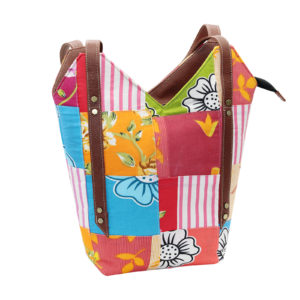 Indha Craft Multicolour Cotton Patchwork V Shape Hand Bag/Shoulder Bag for Girls/Women