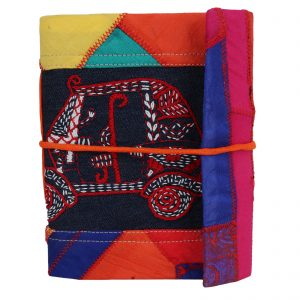 Indha Craft Auto Rickshaw Embroidery Multicolour Cotton Patchwork Diary