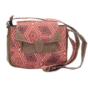 Indha Craft Pink Colour Stylish Cross Body Sling Bag for Girls/Women