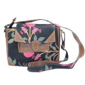 Indha Craft Black Colour Cross Body Sling Bag for Girls/Women