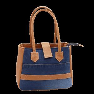 Indha Craft Denim & Artificial Leather Small Handbag for Girls/Women