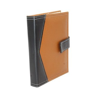 Indha Craft Recycled Paper Diary with Tan Colour Artificial Leather Cover