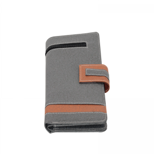 Indha Craft Grey Colour Artificial Leather Handmade Cheque Book Holder