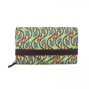 Indha Craft Green Colour Cotton Handblock Printed Partywear Clutch Purse for Girls/Women