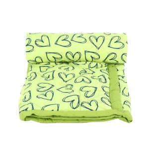 Indha Neon Green Colour Cotton Hand Block Printed Baby Comforter/Kids Comforter