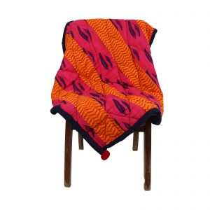 Indha Cotton Patchwork Multicolor Cotton Patchwork Hand Block Printed Sofa Throws for & Office