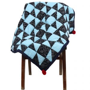 Indha Cotton Hand Block Printed Throw for Sofa/Chair