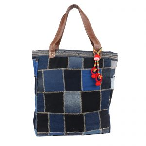 Indha Denim Patchwork Tote Bag/Shopping Bag