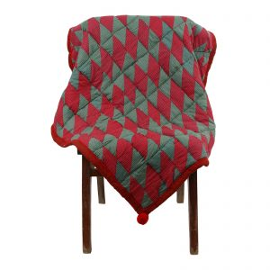Indha Multicolour Cotton Patchwork Sofa/Chair Throws for Living Homes