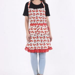 Indha Cotton Hand Block Printed Apron for Home/Kitchen
