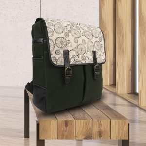 Unique Hand Block Printed in Canvas Stylish Travel Backpack Bag for Ladies