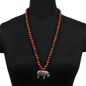Handmade Boho Necklace Elephant