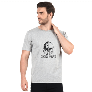 INDHA Men's Regular Fit T- Shirt (Med) Light Gray
