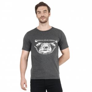 INDHA Men's Regular Fit T- Shirt (XXXL) Gray