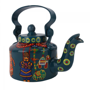 Rajasthani Puppets Hand painted Decorative Kettle -Living Room Showpiece