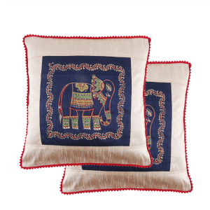 Brown Scarf With Necklace